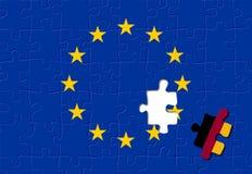 Alemania y unión europea imagen de archivo