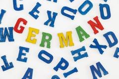 alemán Imágenes de archivo libres de regalías