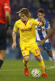 Alen Halilovic of Sporting Gijon. During a Spanish League match against RCD Espanyol at the Power8 stadium on October 3 2015 in Barcelona Spain Royalty Free Stock Images