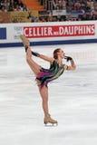 Alena Leonova - figura patinador rusa foto de archivo