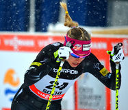 Alena Prochazkova competes in the FIS Cross-Country  World Cup Royalty Free Stock Photography