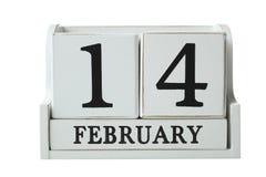 Alendar com data o 14 de fevereiro fotos de stock