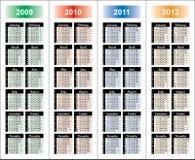 ?alendar van 2009-2012 jaar. Stock Foto