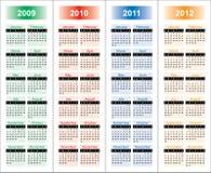 ?alendar von 2009-2012 Jahren. stockfoto