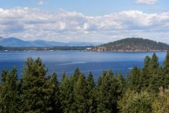 ` Alene, Idaho de Coeur d de lac photo libre de droits