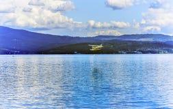 ` Alene Idaho di Coeur d del lago reflection dell'idrovolante dell'aeroplano immagini stock libere da diritti