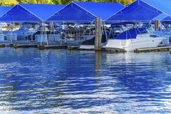 ` Alene Idaho di Marina Piers Boats Reflection Lake Coeur d del sentiero costiero immagine stock