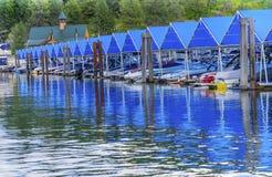 ` Alene Idaho di Marina Piers Boats Reflection Lake Coeur d del sentiero costiero fotografie stock