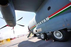 Alenia Aermacchi C-27J spartanisches Militärflugzeug Stockfotos