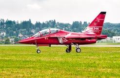 Alenia Aermacchi M 346, jest szkolenia wojskowego samolotem Zdjęcia Stock