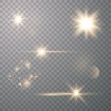 Set of Transparent Flares stock illustration