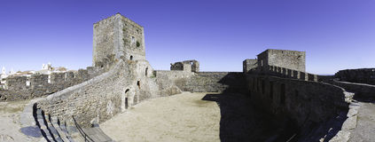 Alentejo Town of Monsaraz castle inner space . Portugal (Pan01) Royalty Free Stock Images