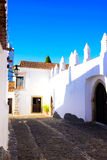 Alentejo Typical Colorful Quaint Narrow Street, Travel Portugal Royalty Free Stock Photography