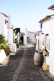 Alentejo Typical Narrow Street, Quaint Wine Shop, Travel Europe Royalty Free Stock Images