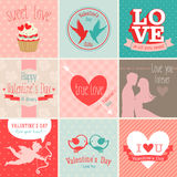 Alentine`s Day set Stock Image