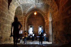 Aleppo castle gate Royalty Free Stock Images