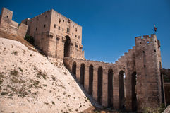 Aleppo Citadel. Gate of the citadel in Alappo, Syria. Photo taken on: October 10, 2010 Stock Photos