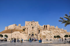 Aleppo Citadel. Gate of the citadel in Alappo, Syria. Photo taken on: October 10, 2010 Royalty Free Stock Photos