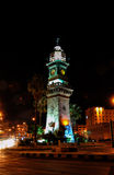 Aleppo clock tower. At night photo: October 10, 2010 royalty free stock photos