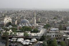 Aleppo da sopra, la Siria Fotografia Stock