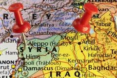 Aleppo en van Mosoel steden waar de oorlog nog gaat Royalty-vrije Stock Afbeeldingen