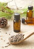 Aleppo pine essential oil. Stock Images