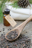 Aleppo pine essential oil Stock Photography