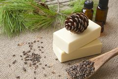 Aleppo pine oil soap Royalty Free Stock Image