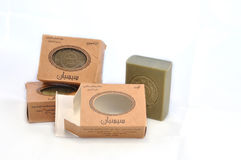 Aleppo soap. Alepoo soap was the first hard soap in the world. Original production methods have been preserved to this day Royalty Free Stock Image
