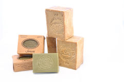 Aleppo soap. Alepoo soap was the first hard soap in the world. Original production methods have been preserved to this day Royalty Free Stock Images