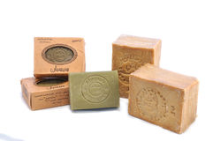 Aleppo soap. Alepoo soap was the first hard soap in the world. Original production methods have been preserved to this day Royalty Free Stock Photo
