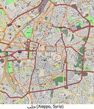 Aleppo Syria Middle East hi res aerial view Royalty Free Stock Photography