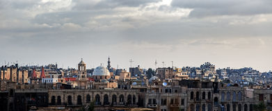 Aleppo Syria. Street view of the city of Aleppo. Syria Royalty Free Stock Photography