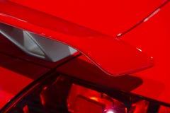 Alerón rojo del coche Foto de archivo libre de regalías