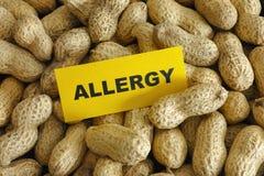 Alergia del cacahuete Fotografía de archivo