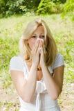 Alergia del polen Foto de archivo libre de regalías
