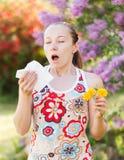 Alergia do pólen imagem de stock