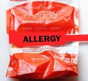 Alergia do queijo Imagens de Stock