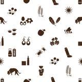 Alergia i allergens ikon bezszwowy wzór Obraz Stock