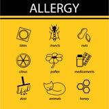 Alergia infographic libre illustration