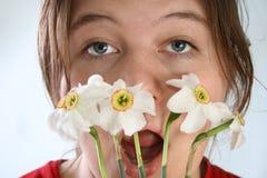 alergia na kwiaty Obraz Royalty Free