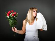 Alergia para uma mulher Foto de Stock Royalty Free