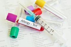 Alergia test Zdjęcie Royalty Free