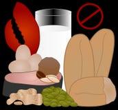 Alergias alimentarias: los 8 alergénicos superiores Imagen de archivo