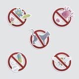 Alergias comuns ilustração do vetor