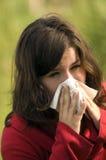alergic sneezeing 图库摄影