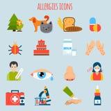 Alergii ikony set royalty ilustracja