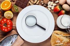 Alergii jedzenia pojęcie zdjęcie stock