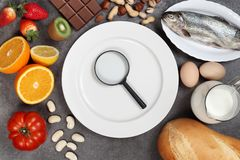 Alergii jedzenia poj?cie obrazy royalty free