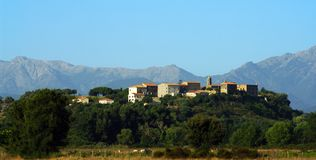 Aleria corsica village Stock Photography
